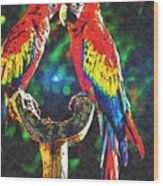Amazon Parrotts Wood Print