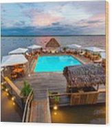 Amazon Swimming Pool Wood Print