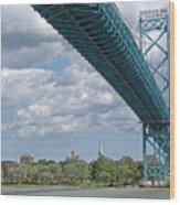 Ambassador Bridge - Windsor Approach Wood Print