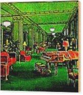 Ambassador Hotel Lobby, Los Angeles, 1935 Wood Print