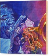 Ambassador Of Jazz - Louis Armstrong Wood Print
