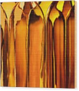 Amber Abstraction Wood Print