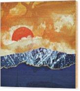 Amber Dusk Wood Print