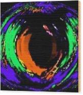 Amber Eye Wood Print