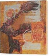 Amber Parade Wood Print