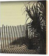 Amber Shadows Wood Print