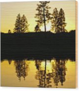 Amber Sunset Wood Print