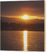 Amber Sunset Wood Print