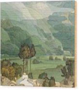 Ambleside Wood Print by Francis Towne