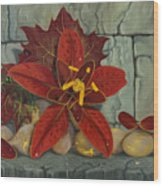 Ambrosia Flower Wood Print