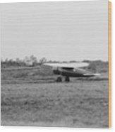 Amelia Earhart 1897-1937, Taking Off Wood Print by Everett