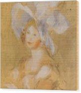 Amelie Dieterie In A White Hat Wood Print