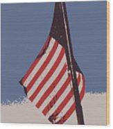 Amercan Flag Wood Print