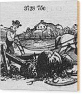 America: Farming, C1870 Wood Print