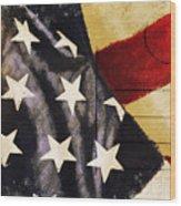 America Flag Pattern Postcard Wood Print
