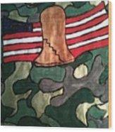 America Wood Print