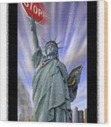 America On Alert II Wood Print