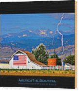 America The Beautiful Poster Wood Print