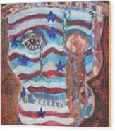 America Under Fire Wood Print