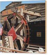 America Water Wheel Wood Print by LeeAnn McLaneGoetz McLaneGoetzStudioLLCcom