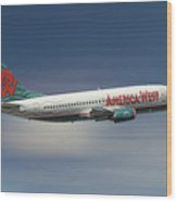 America West Boeing 737-300 Wood Print