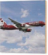 America West Boeing 757 Arizona Cardinals Wood Print