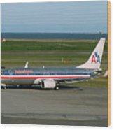 American Airlines 737-800 Wood Print