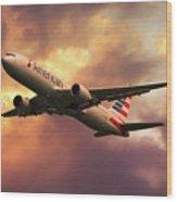 American Airlines 767 N345an Wood Print