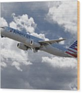American Airlines Airbus A321 Wood Print
