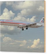 American Airlines Md-80 Wood Print