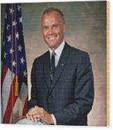 American Astonaut John Glenn Wood Print