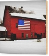 American Barn Wood Print by Bill Cannon