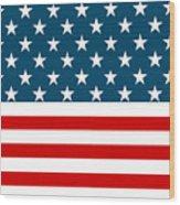 American Beach Towel Wood Print
