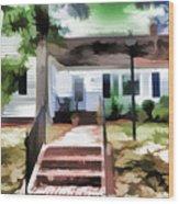 American Beautiful House Wood Print