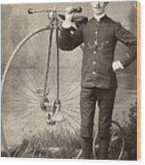 American Bicyclist, 1880s Wood Print