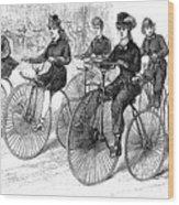 American Bicyclists, 1879 Wood Print