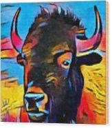 American Bison Wood Print