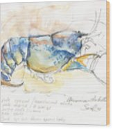 American Blue Lobster Wood Print