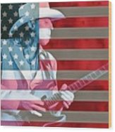 American Bluesman Stevie Ray Vaughan Wood Print