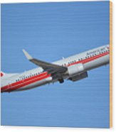 American Boeing 737-823 N915nn Retro Twa Phoenix Sky Harbor January 12 2015 Wood Print