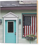 American Curtain  Wood Print