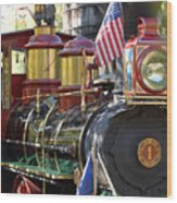 American Dream Train Wood Print