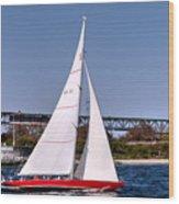 American Eagle Newport Ri Wood Print