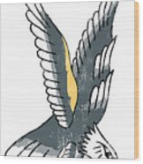 American Eagle Tattoo Wood Print