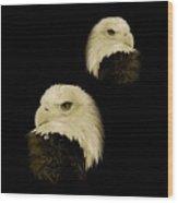 American Eagles Wood Print