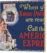 American Express Shipping Wood Print
