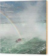 Horseshoe Waterfall At Niagara Falls Wood Print