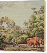 American Farm Scenes Wood Print