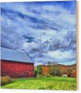 American Farmer Wood Print