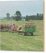 American Farming Wood Print